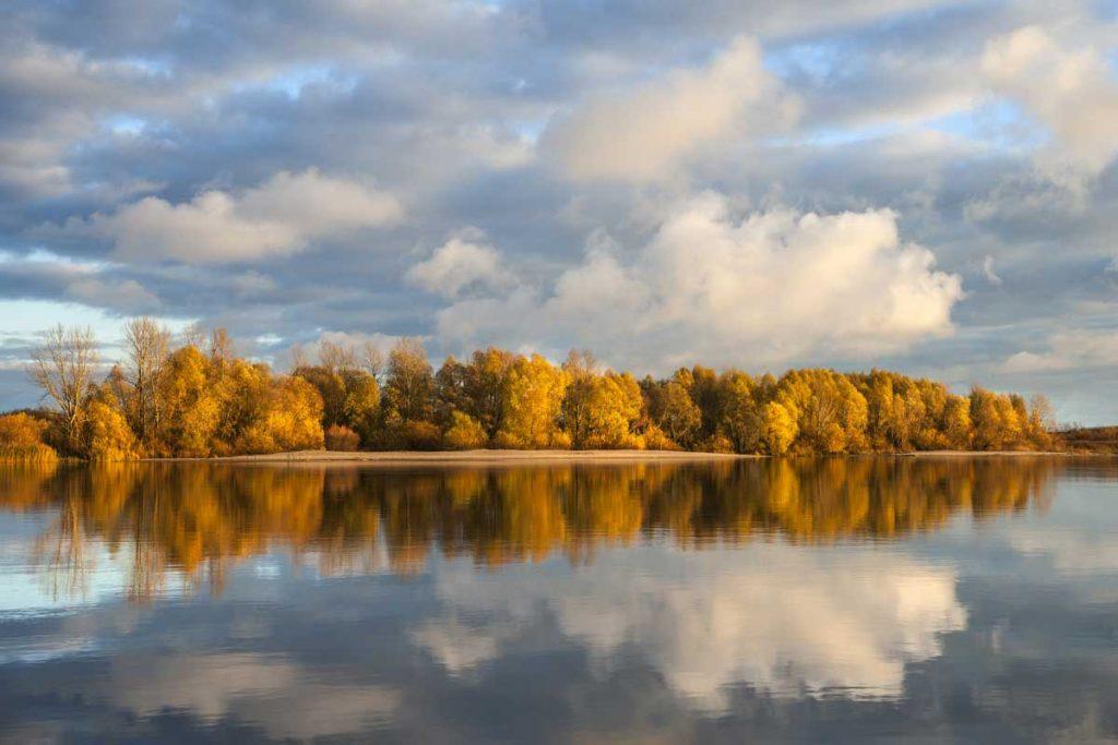 Nemuno delta rudenį